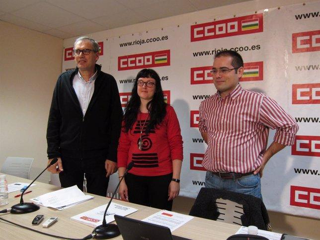Fuertes, Bujanda y Alcalde miembros Dirección Provisional CCOO