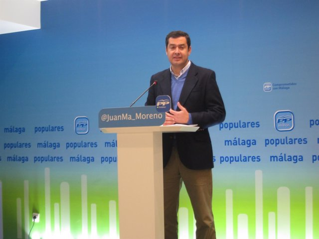 El presidente del PP andaluz Juanma Moreno Bonilla