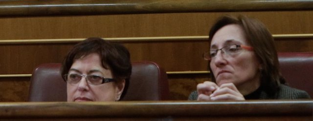 Olaia Fernández Davila y Rosana Pérez, diputadas del BNG