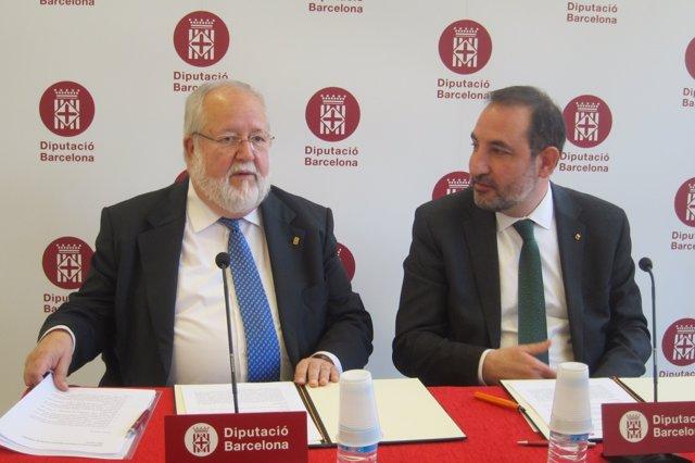 Salvador Esteve (pte.Diputació Barcelona) conseller Ramon Espadaler