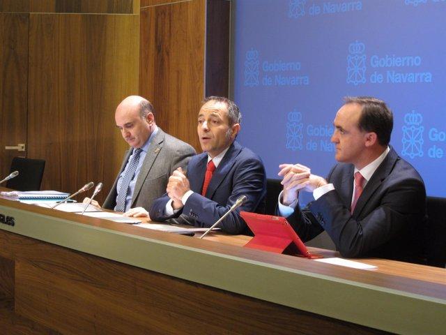 Javier Morrás, Juan Luis Sánchez de Muniáin y José Javier Esparza.