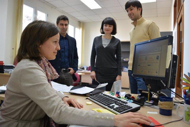 En la imagen, Luis Alarcón, Pablo Rosique, Raquel Abadías e Isabel Sánchez