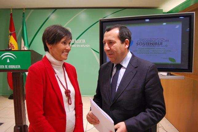 Marta Rueda y José Luis Ruiz Espejo en rueda de prensa