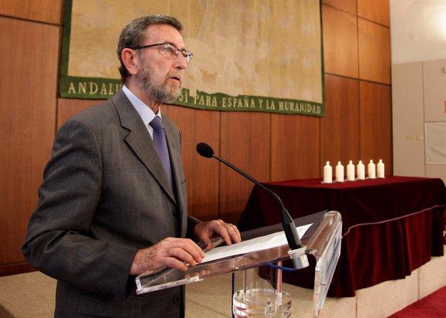 Manuel Gracia, hoy durante el acto