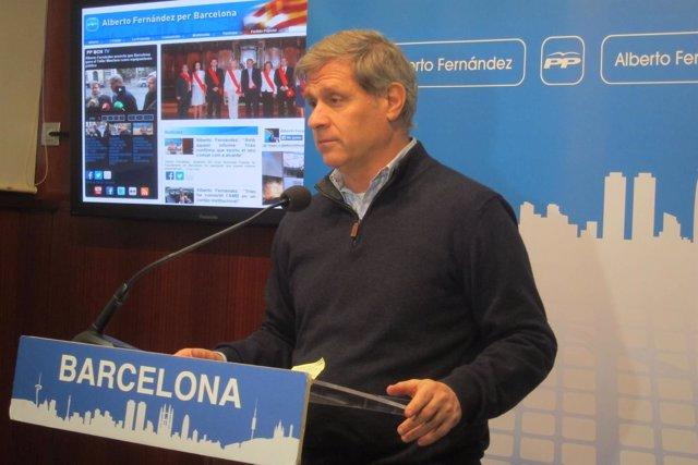 Alberto Fernández, líder del PP en Barcelona