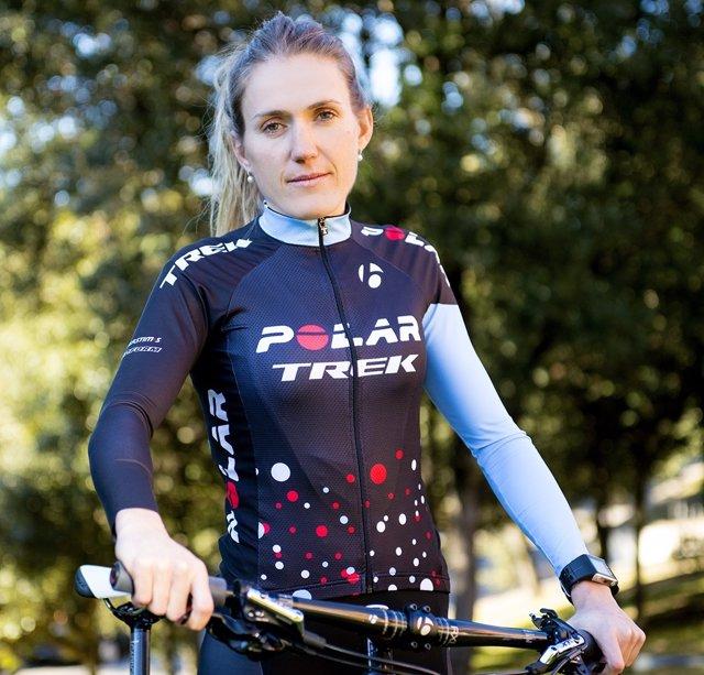 Claudia Galicia, ciclista del Polar Trek Team