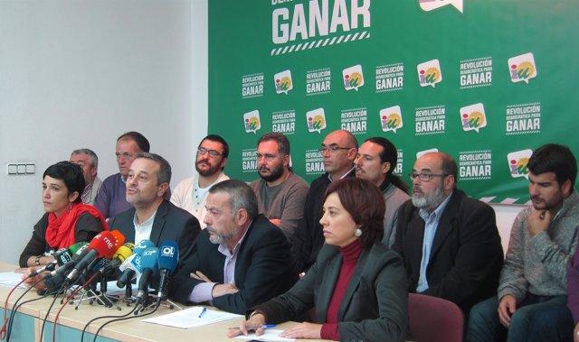 José Antonio Castro y otros dirigentes de IU Málaga