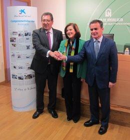 Presentación del Programa de Ayudas de 'La Caixa' y Fundación Cajasol