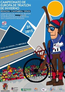 Cartel del Campeonato de Europa de Triatlón de Invierno