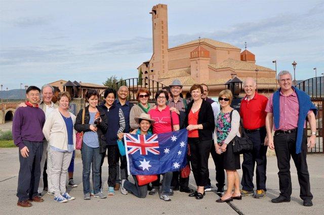 Grupo australiano en Torreciudad