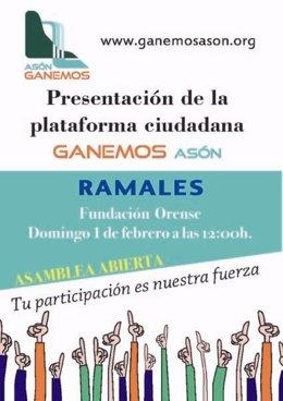 Cartel de la presentación en Ramales