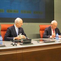 Staffan de Mistura y José Manuel García-Margallo