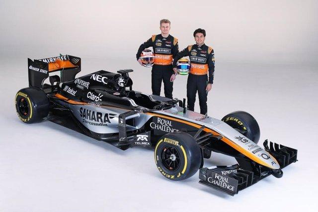 Sergio Pérez y Niko Huelkenberg con el nuevo Force India