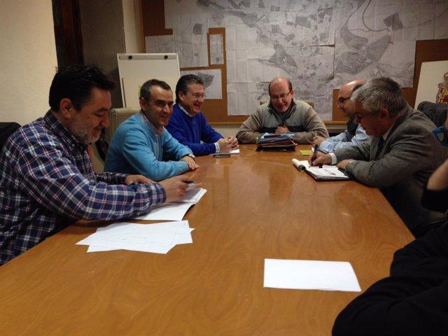 Reunión para abordar la situación del colegio Almadén de Jaén