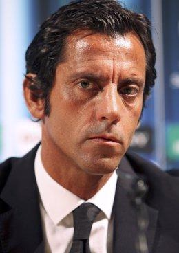 El entrenador del Getafe Quique Sánchez Flores