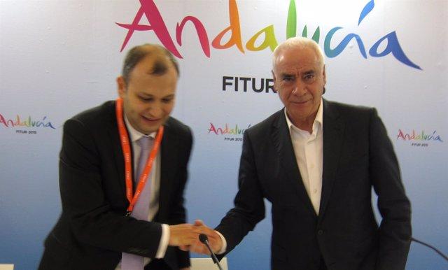 Halid Koca y Luciano Alonso, en Fitur