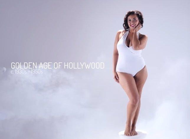 La evolución del cuerpo de la mujer