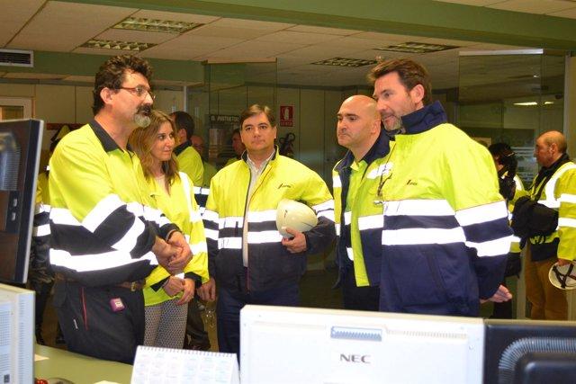 El director general de Trabajo visita la planta de CEMEX en Morata de Jalón (Zar
