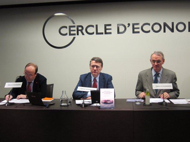 Miquel Iceta, Jordi Sevilla y Antón Costas