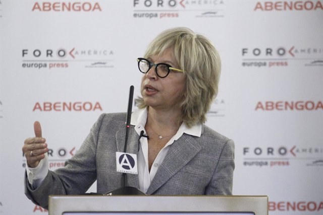 Cecilia Álvarez-Correa en el Foro América de Europa Press