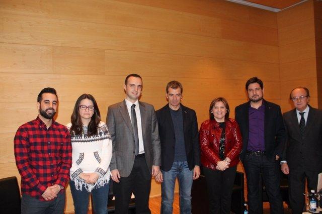 Participantes en el debate sobre transparencia.