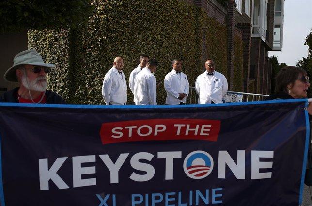Protestas en EEUU contra oleoducto Keystone KL