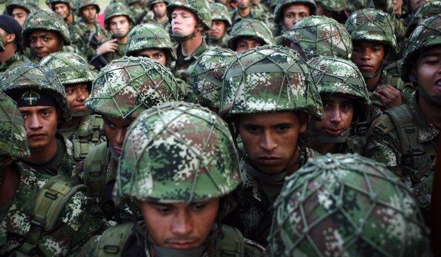 Soldados del Ejército Nacional de Colombia.