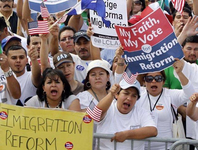 Protestas de inmigrantes en EEUU