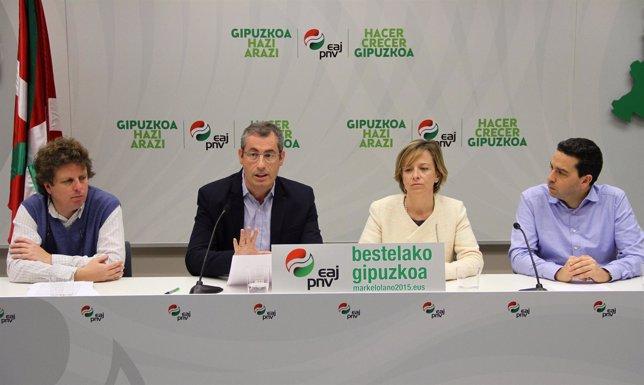 Rueda de prensa del PNV.
