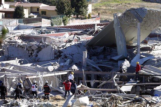 Un hospital infantil explota en México DF