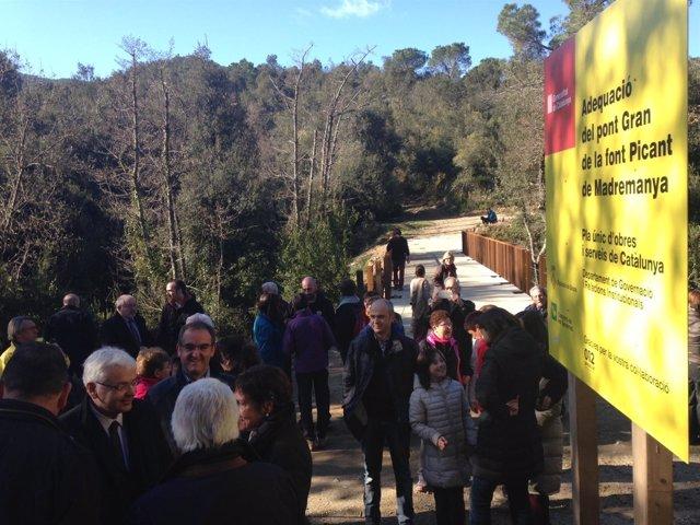 Inauguración de las obras del Pont Gran de Font Picant de Madremanya