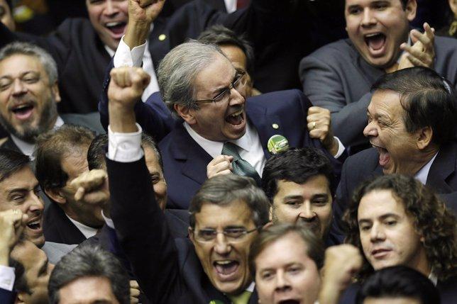 Eduardo Cunha, nuevo presidente de la Cámara de Diputados de Brasil
