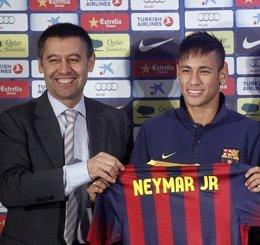 Neymar y Bartomeu