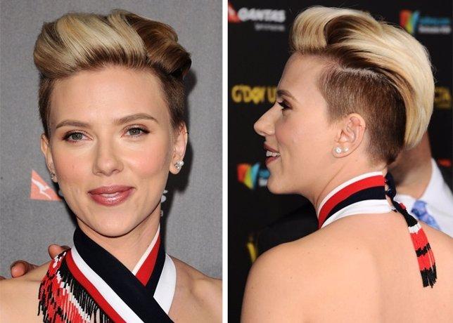 Scarlett Johansson y su rompedor nuevo look
