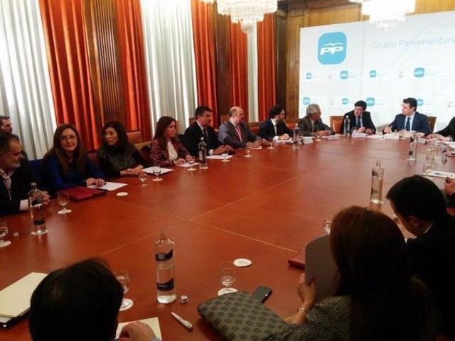 Reunión del Grupo Popular con José Manuel Soria