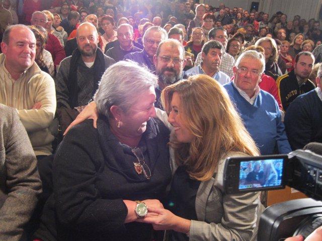 Susana Díaz en un acto del PSOE en Córdoba capital el pasado enero
