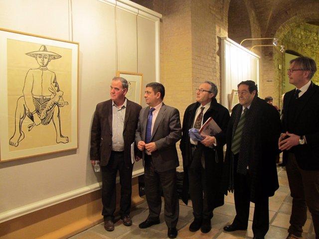 Inauguración de la muestra de Zabaleta en el Palacio Provincial