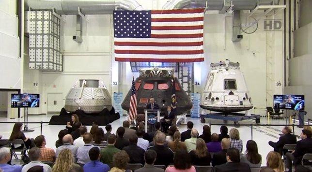 Bolden en su discurso en el Estado de la NASA