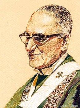 El arzobispo salvadoreño Óscar Romero, asesinado por un escuadrón de la muerte d
