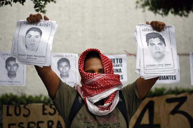 Protestas por la desaparición de 43 estudiantes mexicanos