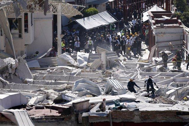 Explosión junto a un hospital infantil en la capital de México