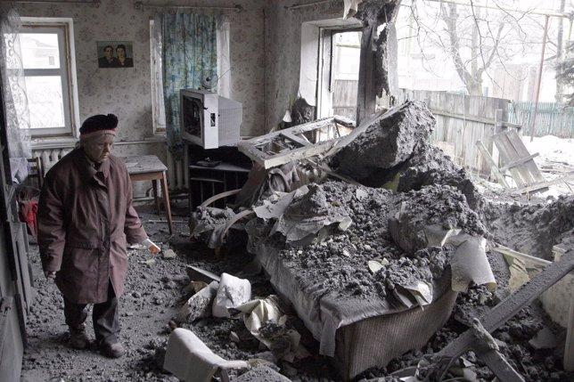 Ucrania, ataque a una casa de una anciana