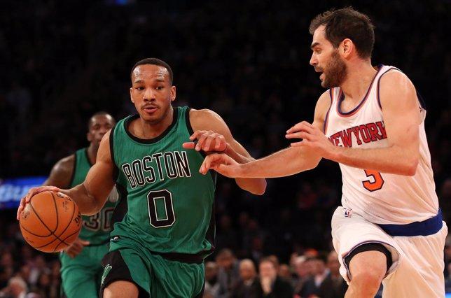 José Manuel Calderón en el Boston Celtics - New York Knicks