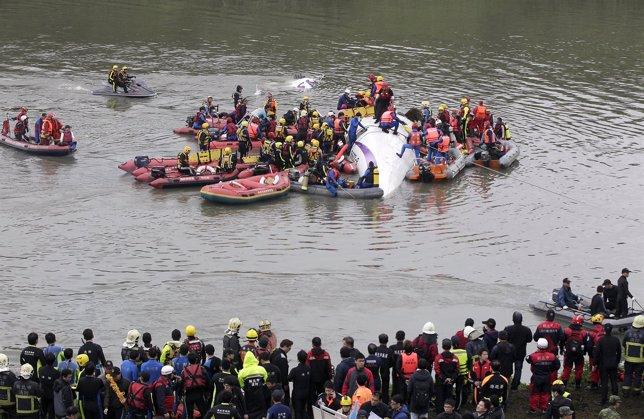 Accidente de avión enTaiwán