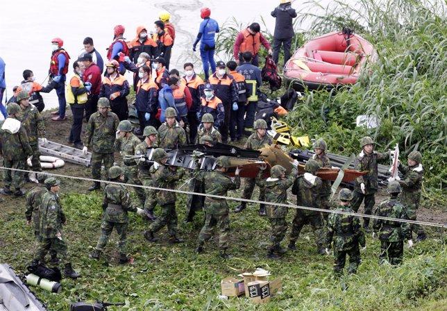 Accidente de avión en Taiwán