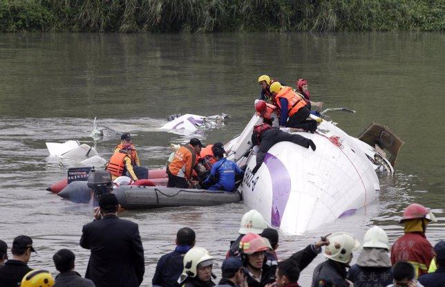 Accidente de avión en taipeir