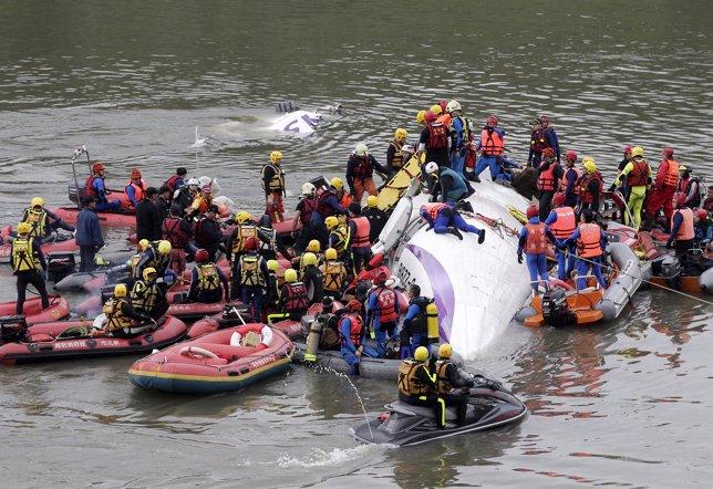 Accidente en Taiwán