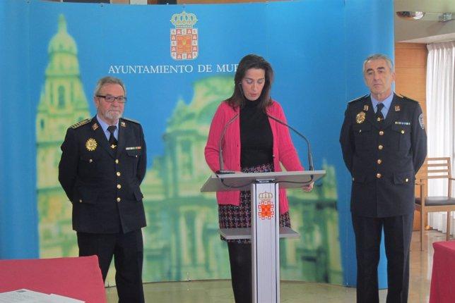 Nuria Fuentes en la rueda de prensa