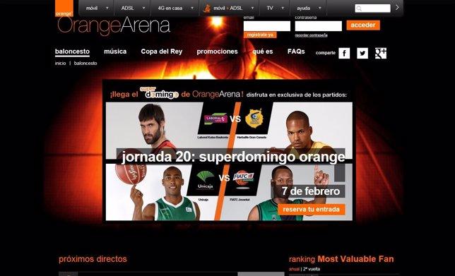Página web de Orange