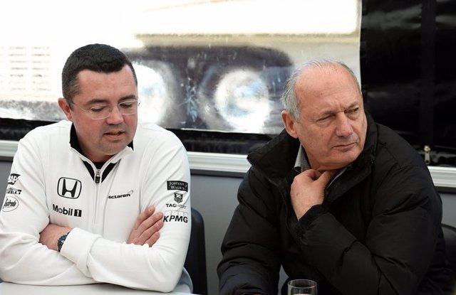 Eric Boullier y Ron Dennis (McLaren-Honda)
